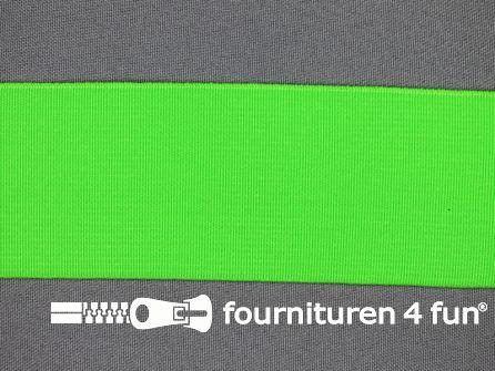 Gekleurd soepel elastiek 50mm neon groen