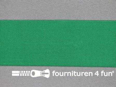 COUPON 75cm Gekleurd soepel elastiek 50mm aqua groen