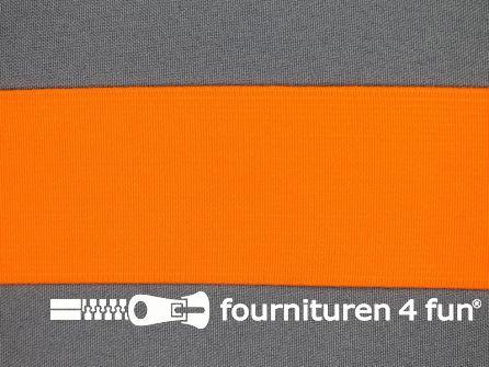 Gekleurd soepel elastiek 50mm neon oranje