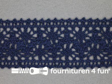 Kloskant 40mm donker blauw