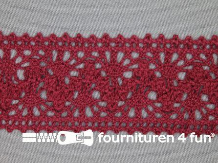 Kloskant 40mm bordeaux rood