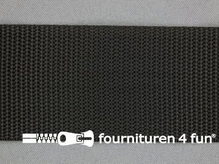 Rol 30 meter parachute band 50mm zwart