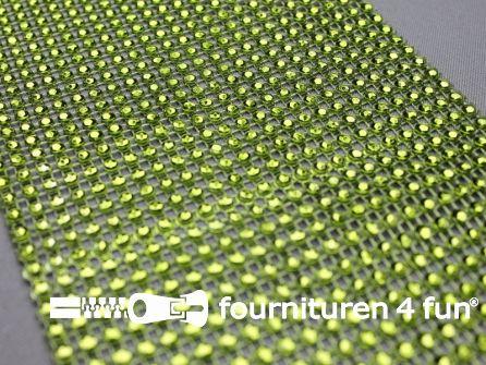 Strass band 115mm mini-cirkels lime groen