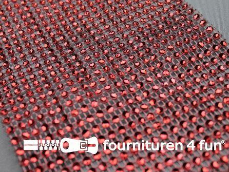Strass band 115mm mini-cirkels rood
