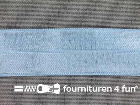 Elastische biasband 20mm licht baby blauw