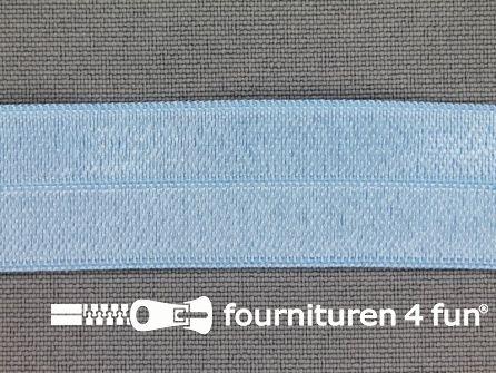Rol 25 meter elastische biasband 20mm licht baby blauw