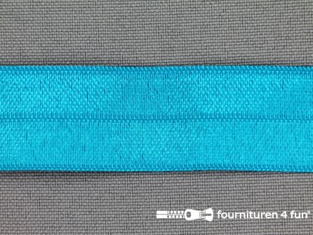 Elastische biasband 20mm aqua blauw