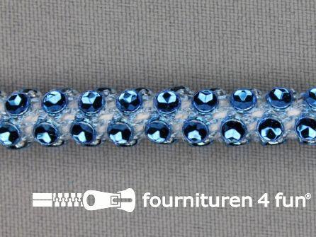 Strass koord 8mm blauw