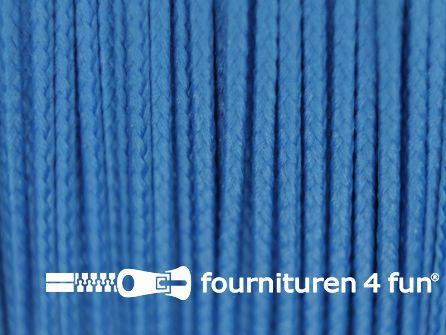 Koord 1mm rol aqua blauw 50 meter