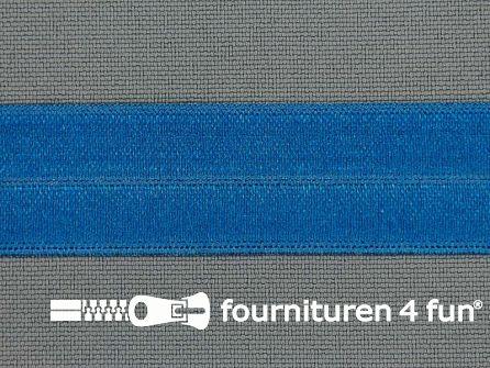 Rol 25 meter elastische biasband 20mm kobalt blauw