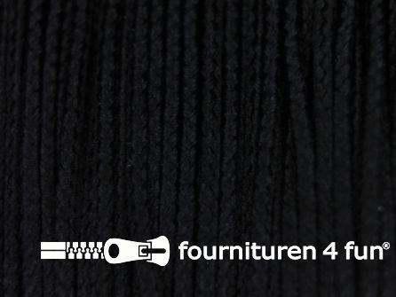 Koord 1mm rol zwart 50 meter