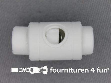 Koord stopper 25mm cilinder wit
