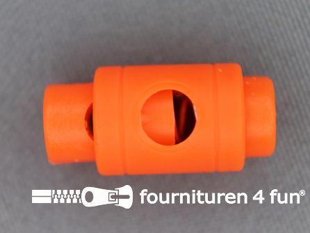 Koord stopper 25mm cilinder neon oranje
