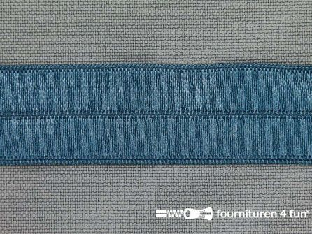 Rol 25 meter elastische biasband 20mm jeans blauw