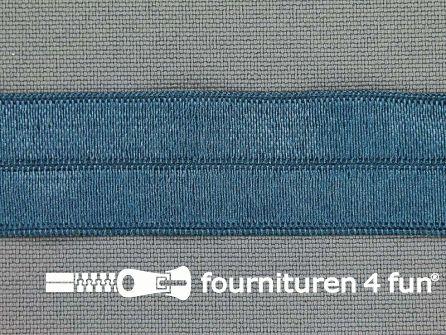 Elastische biasband 20mm jeans blauw