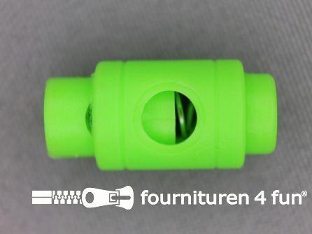 Koord stopper 25mm cilinder neon groen