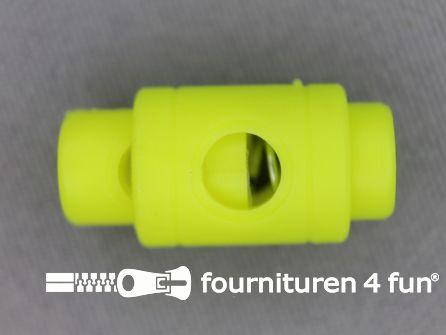 Koord stopper 25mm cilinder neon geel