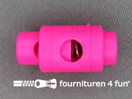 Koord stopper 25mm cilinder neon roze