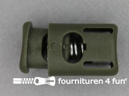 Koord stopper 25mm cilinder leger groen