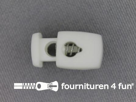 Koord stopper 17mm cilinder wit
