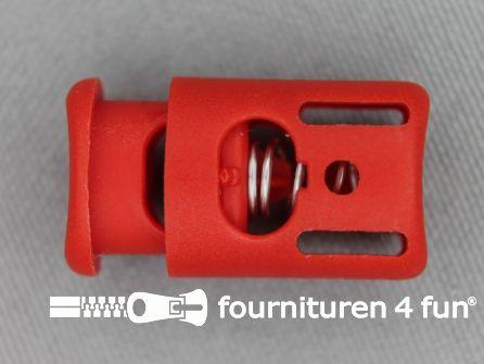 Koord stopper 25mm cilinder rood