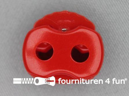 Koord stopper 22mm dubbel rood