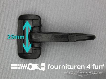 Kunststof musketon 25mm zwart