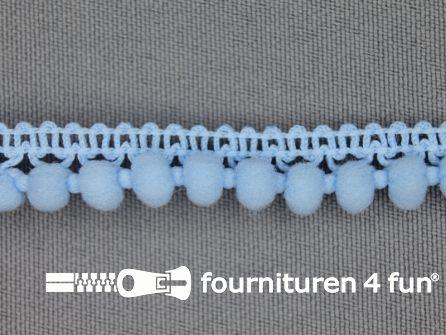 Mini bolletjesband 11mm licht blauw