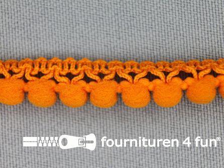 Mini bolletjesband 11mm oranje