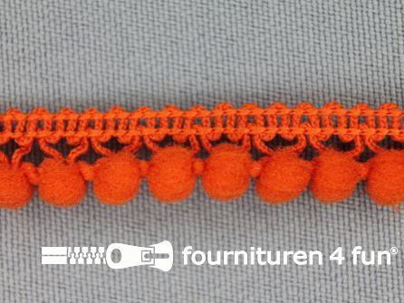 Mini bolletjesband 11mm donker oranje