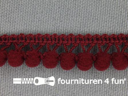 Mini bolletjesband 11mm bordeaux rood