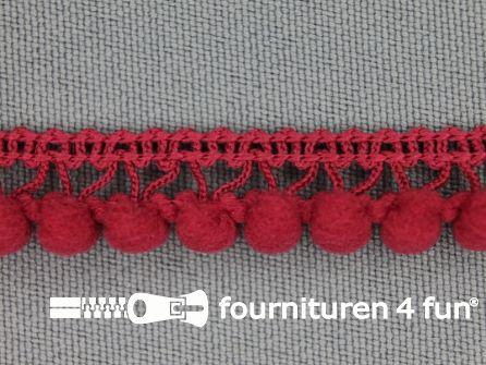 Mini bolletjesband 11mm koraal rood