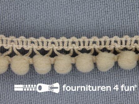 Mini bolletjesband 11mm beige