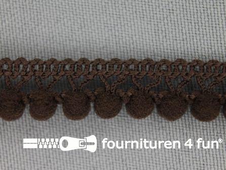 Mini bolletjesband 11mm donker bruin