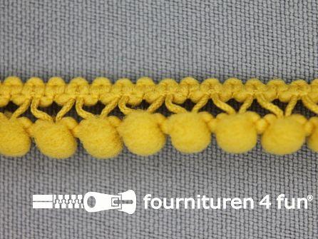 Mini bolletjesband 11mm licht mosterd geel