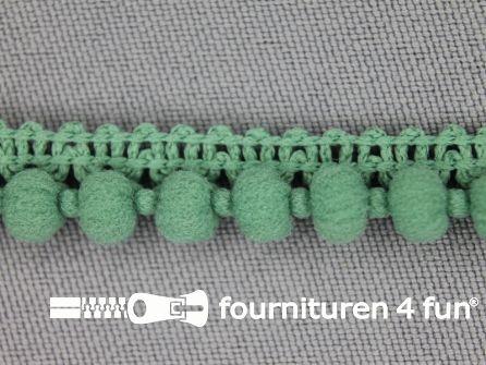 Mini bolletjesband 11mm industrial green