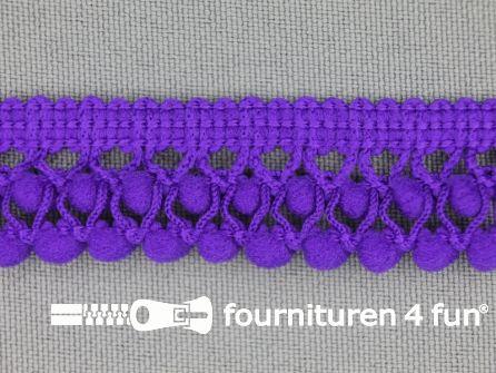 Mini bolletjesband 19mm paars