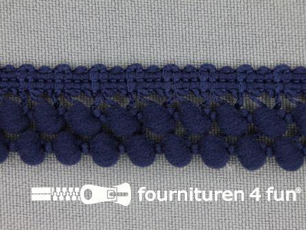 Mini bolletjesband 19mm marine blauw