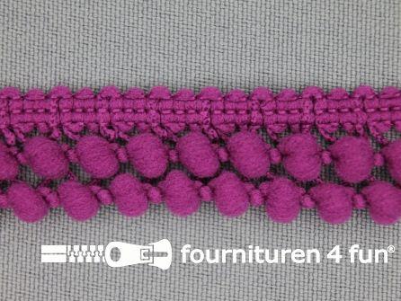 Mini bolletjesband 19mm cyclaam roze
