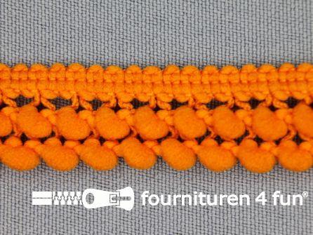 Mini bolletjesband 19mm oranje