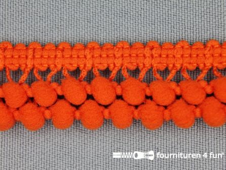Mini bolletjesband 19mm donker oranje