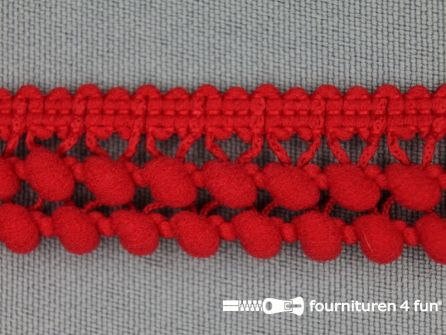 Mini bolletjesband 19mm rood