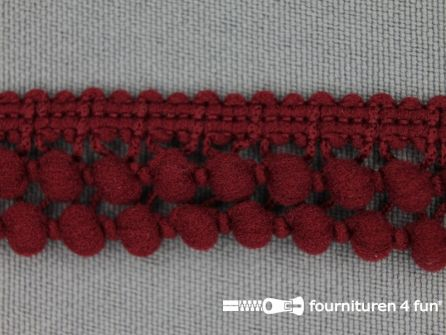 Mini bolletjesband 19mm bordeaux rood
