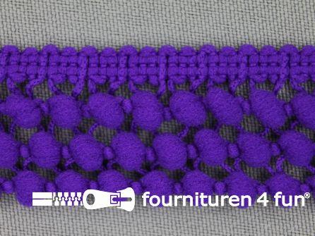 Mini bolletjesband 24mm paars
