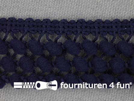 Mini bolletjesband 24mm marine blauw