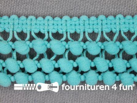 Mini bolletjesband 24mm licht aqua blauw