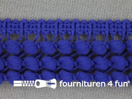 Mini bolletjesband 24mm kobalt blauw