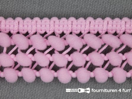 Mini bolletjesband 24mm roze