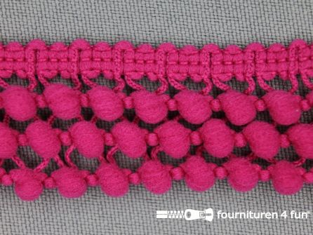 Mini bolletjesband 24mm fuchsia roze