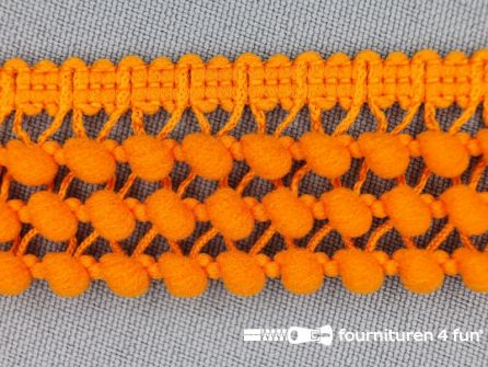 Mini bolletjesband 24mm oranje